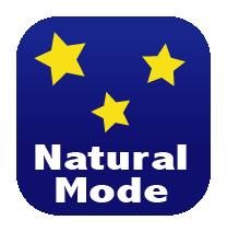 Fonction Natural Mode, permet de chauffer par rayonnement et par convection naturelle