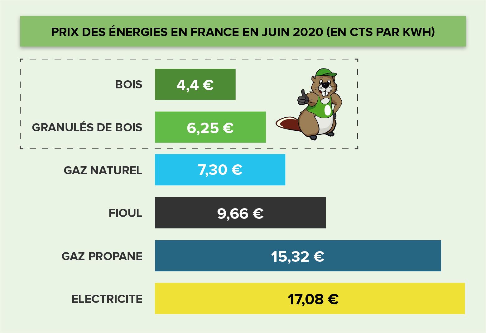 Le bois est l'énergie renouvelable la moins cher du marché